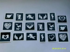 1 - 100  x  Hen Night / Bachelorette party themed Stencils for glitter tattoos / airbrush